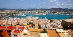 Ibiza vista dall'alto del castello della città vecchia