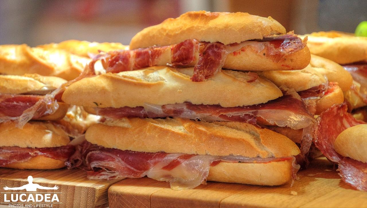 Bocadillos de jamon: panino col prosciutto spagnolo