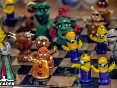Scacchi in vetro di Murano