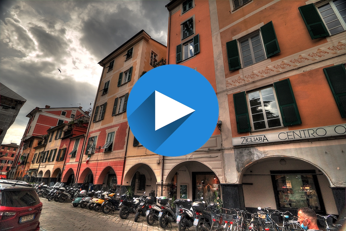 A passeggio per Chiavari: video in 4k della splendida cittadina