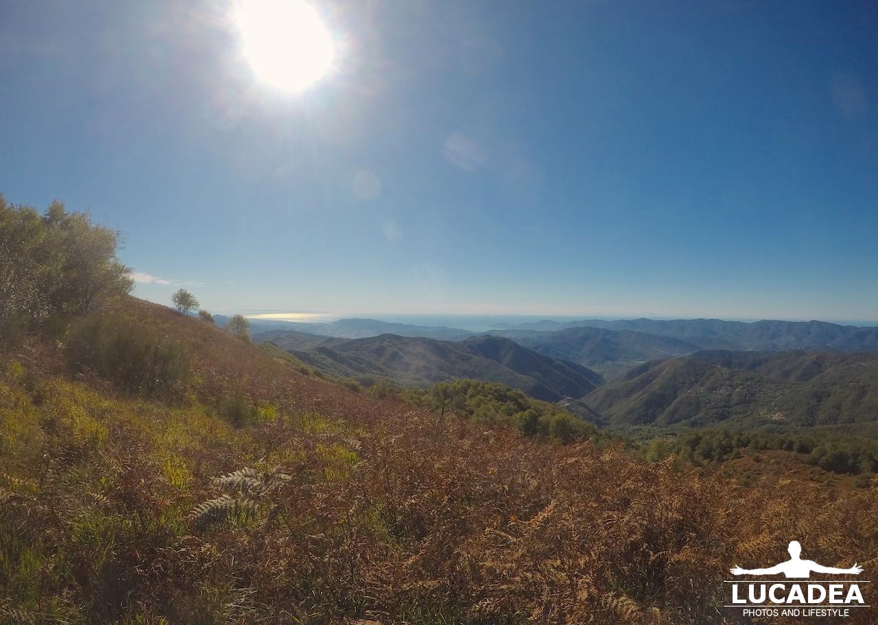 Paesaggio dai monti a Casoni sopra La Spezia