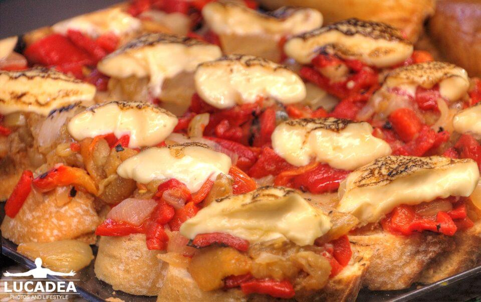 tapas peperoni e formaggio