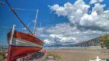 Il leudo in spiaggia a Sestri Levante