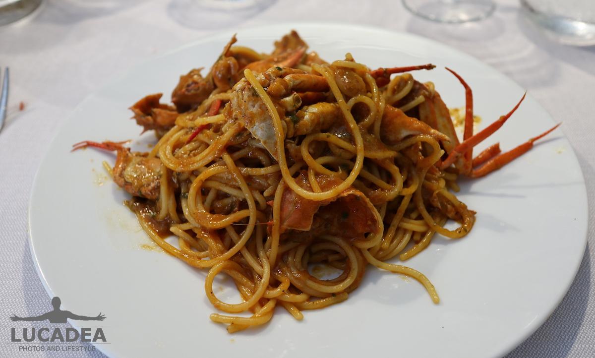 Spaghetti al sugo di granchio