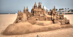 Castello di sabbia a Valencia