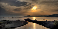 Quasi tramonto sul Gromolo