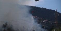 Incendio tra Sestri Levante e Santa Vittoria