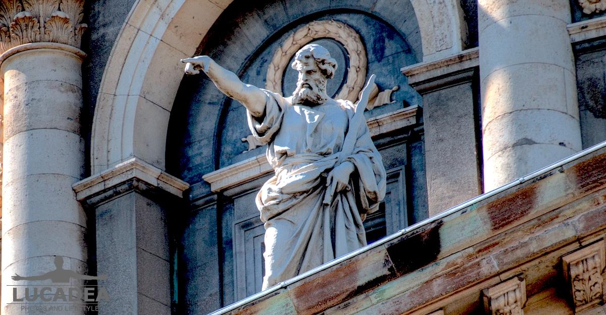 Statue della facciata della chiesa di Marmorkirken