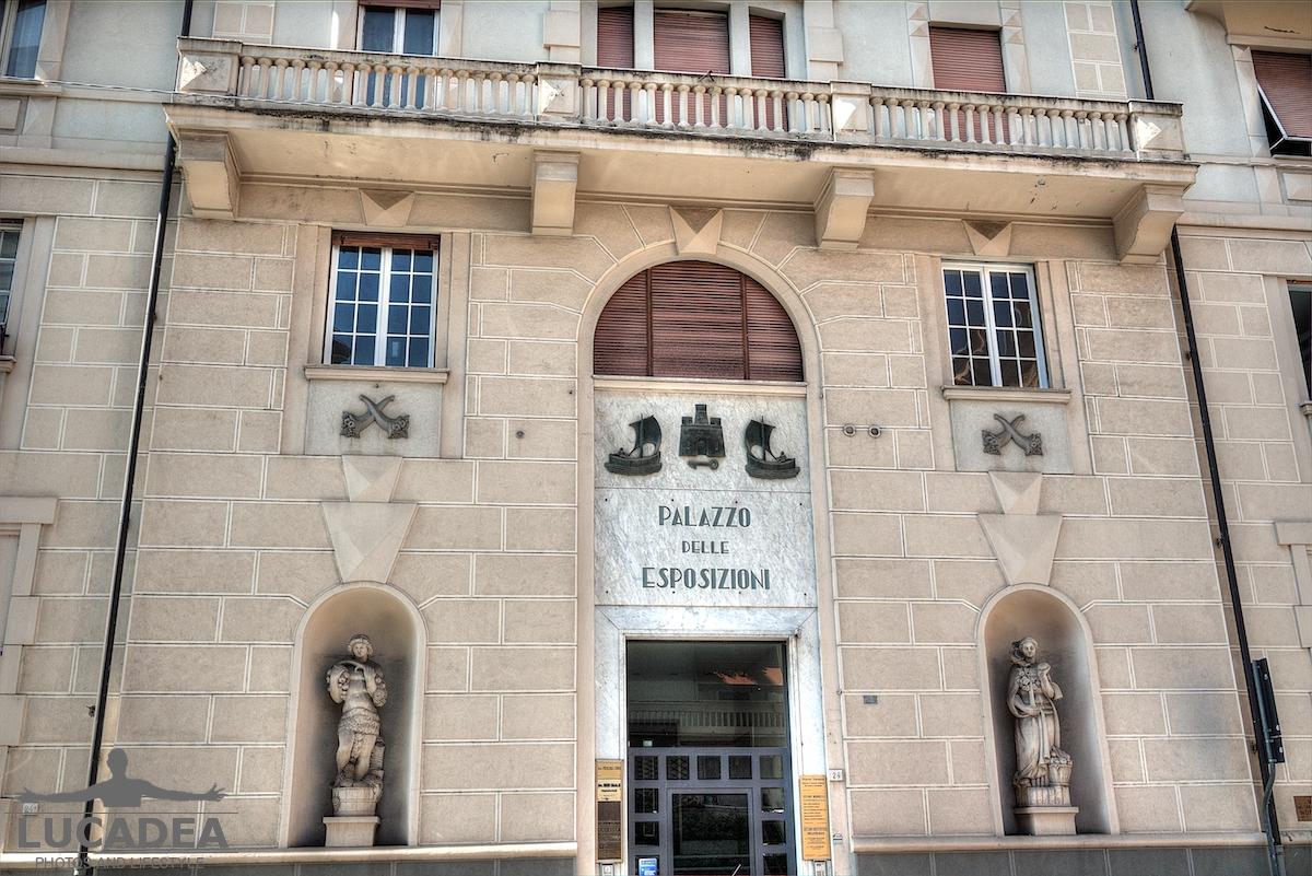 Il palazzo delle esposizioni a Chiavari