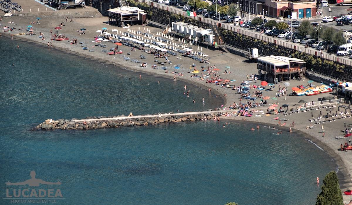 Zoom della spiaggia di Levanto