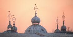 Cupole di San Marco al tramonto