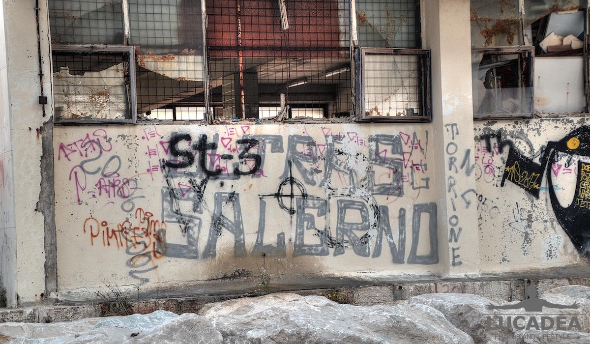 Murale Ultras Salerno a Spalato