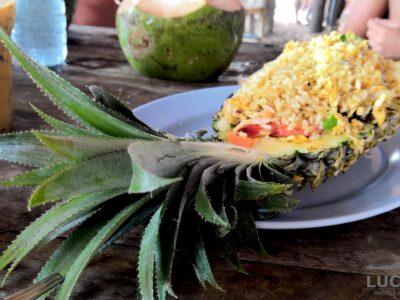 Riso Thai con ananas
