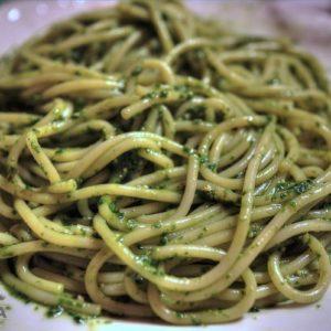 Spaghetti al pesto ligure