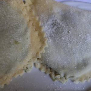 Pansotti fatti in casa close-up