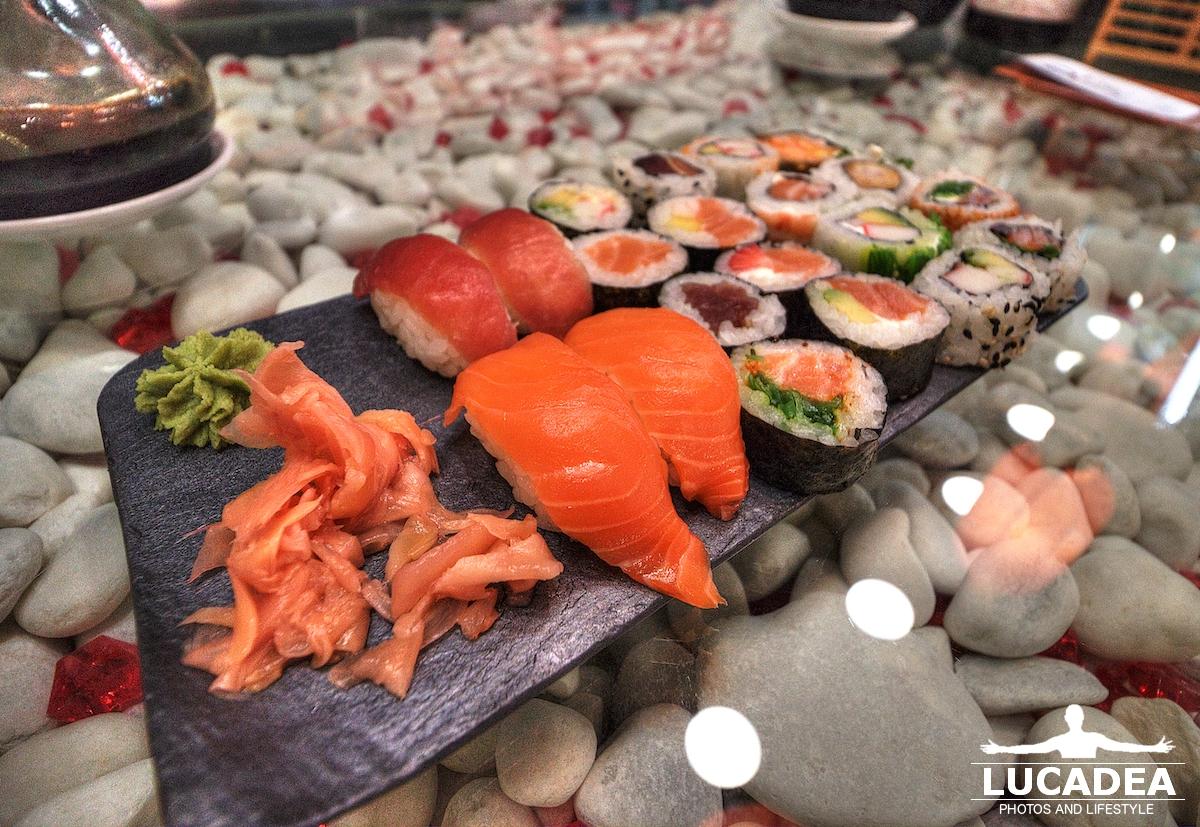 Piatto di sushi in Spagna