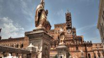 Le statue della  Cattedrale di Palermo