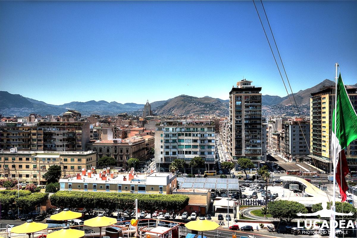 Palermo vista dalla nave