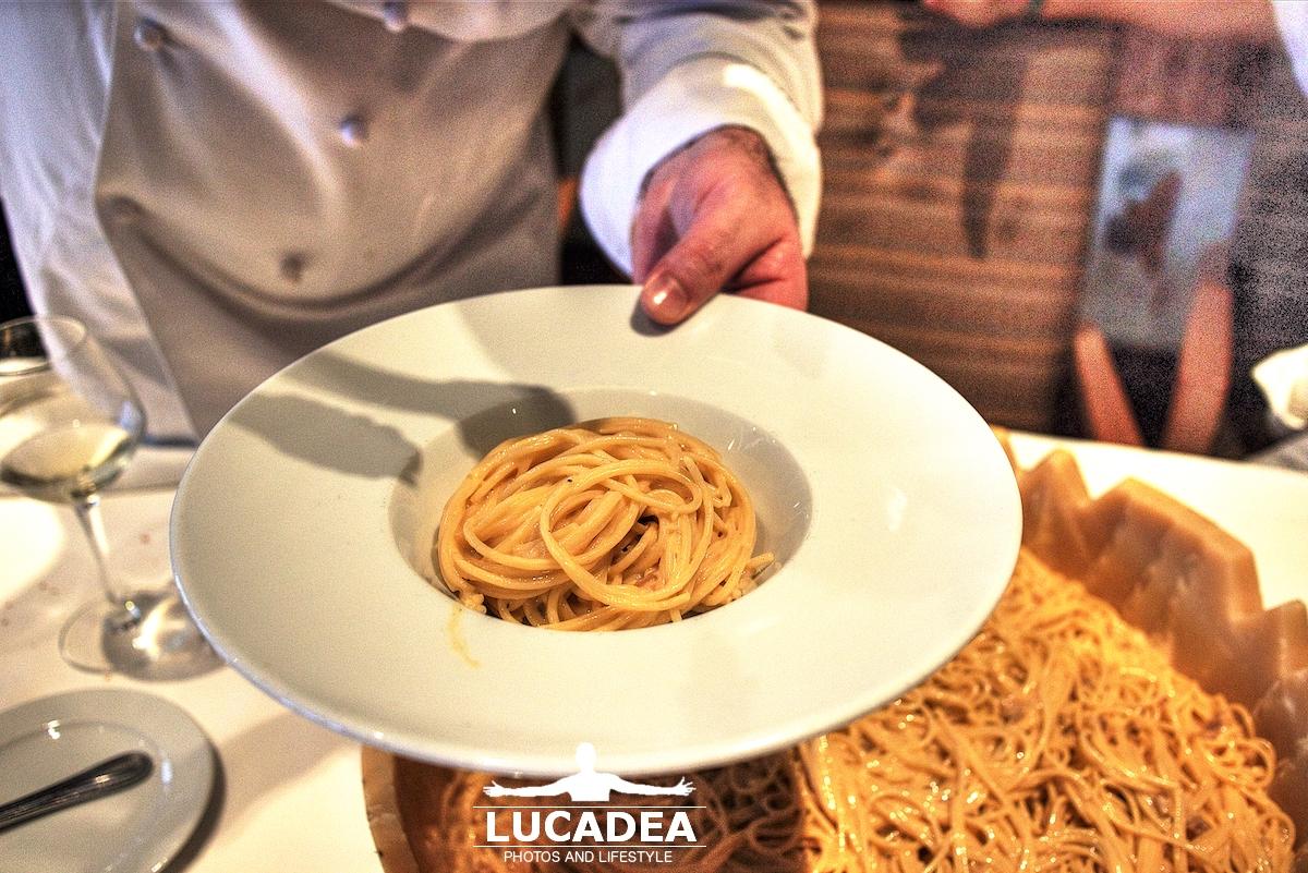 Piatto di pasta alla carbonara