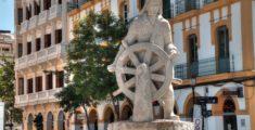 Statua del marinaio ad Ibiza