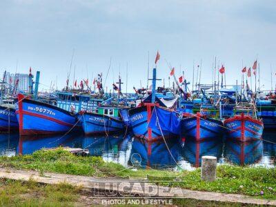 Barchette da pesca a Da Nang