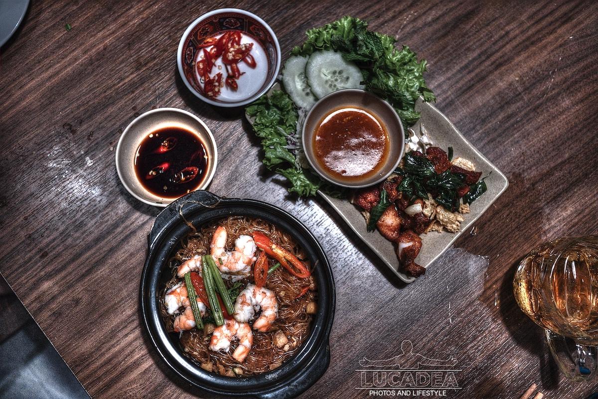 Glass noodles and shrimps