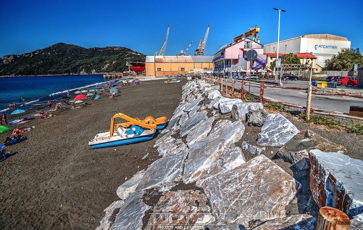 La spiaggia di Renà il 12 settembre 2019