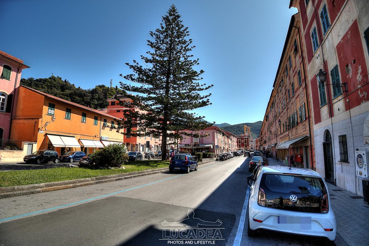 Piazza Brigate Partigiane a Riva Trigoso