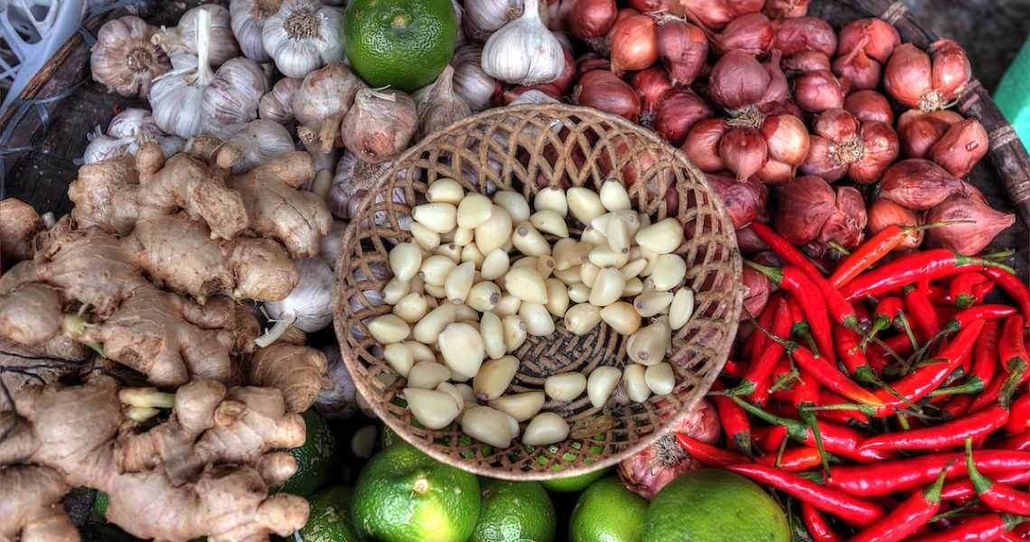 Cesta di spezie in Vietnam