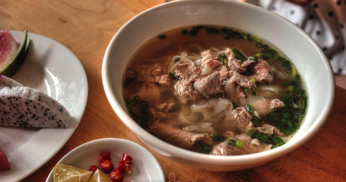 Colazione in Vietnam il pho bo