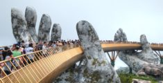 Golden Bridge in Vietnam
