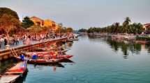 Tramonto ad Hoi An in Vietnam