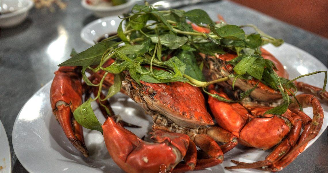 Granchio bollito in Vietnam