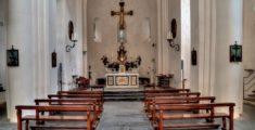 Interno della chiesa dell'Abbazia di San Fruttuoso