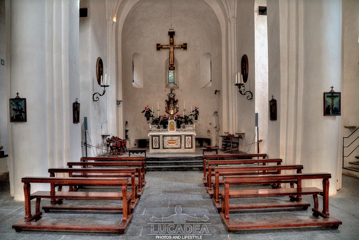 Interno della chiesa Abbazia di San Fruttuoso