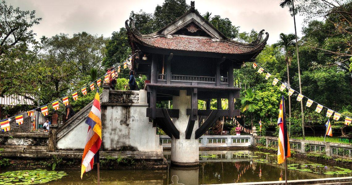 La pagoda su un pilone ad Hanoi