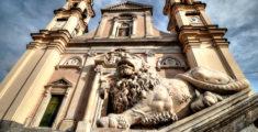 Un leone della Basilica di Lavagna