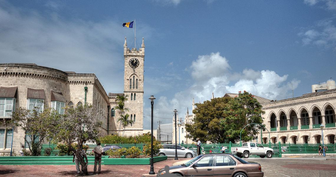 Per le vie di Bridgetown a Barbados