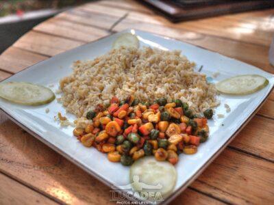 Riso fritto con verdure in Vietnam