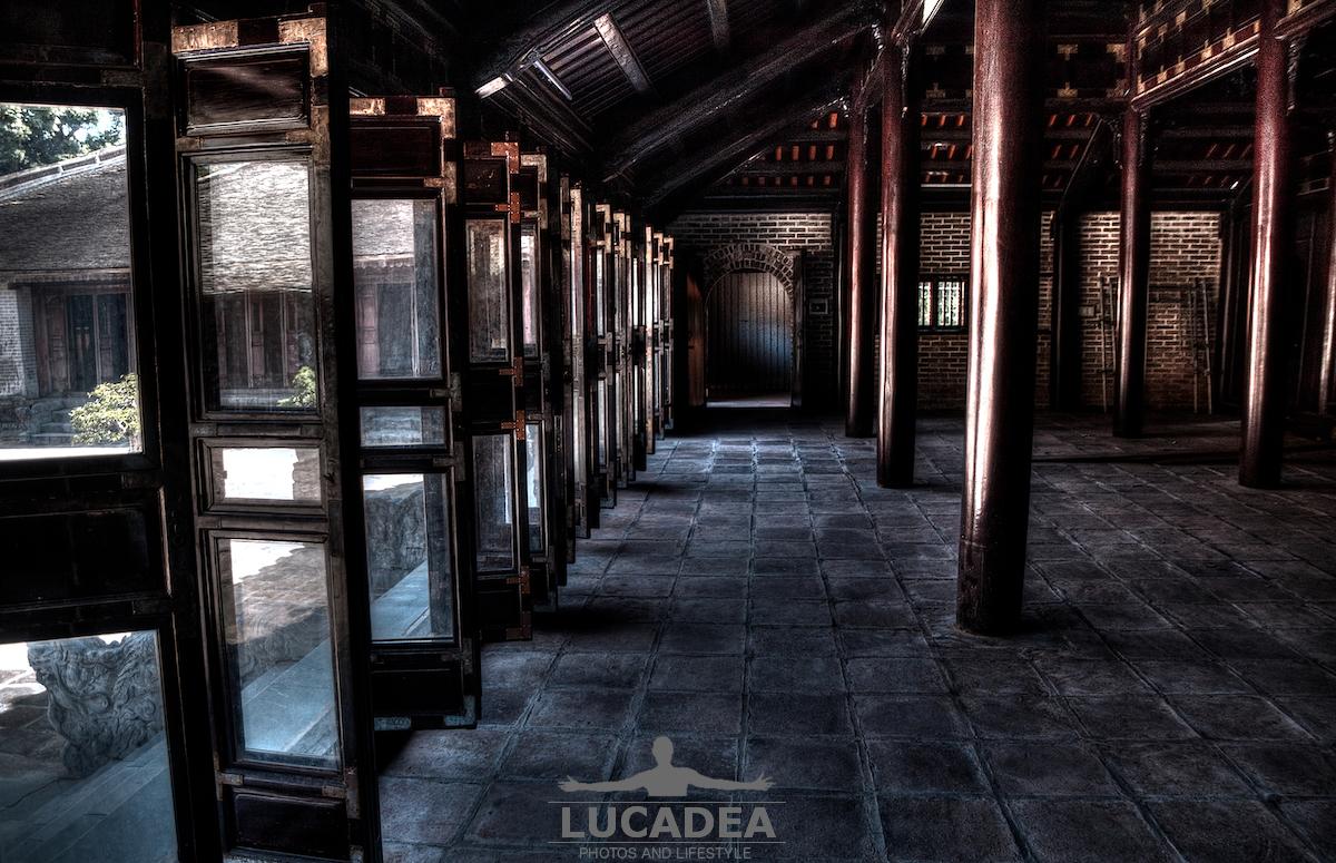 Salone della tomba di Tu Duc a Hue