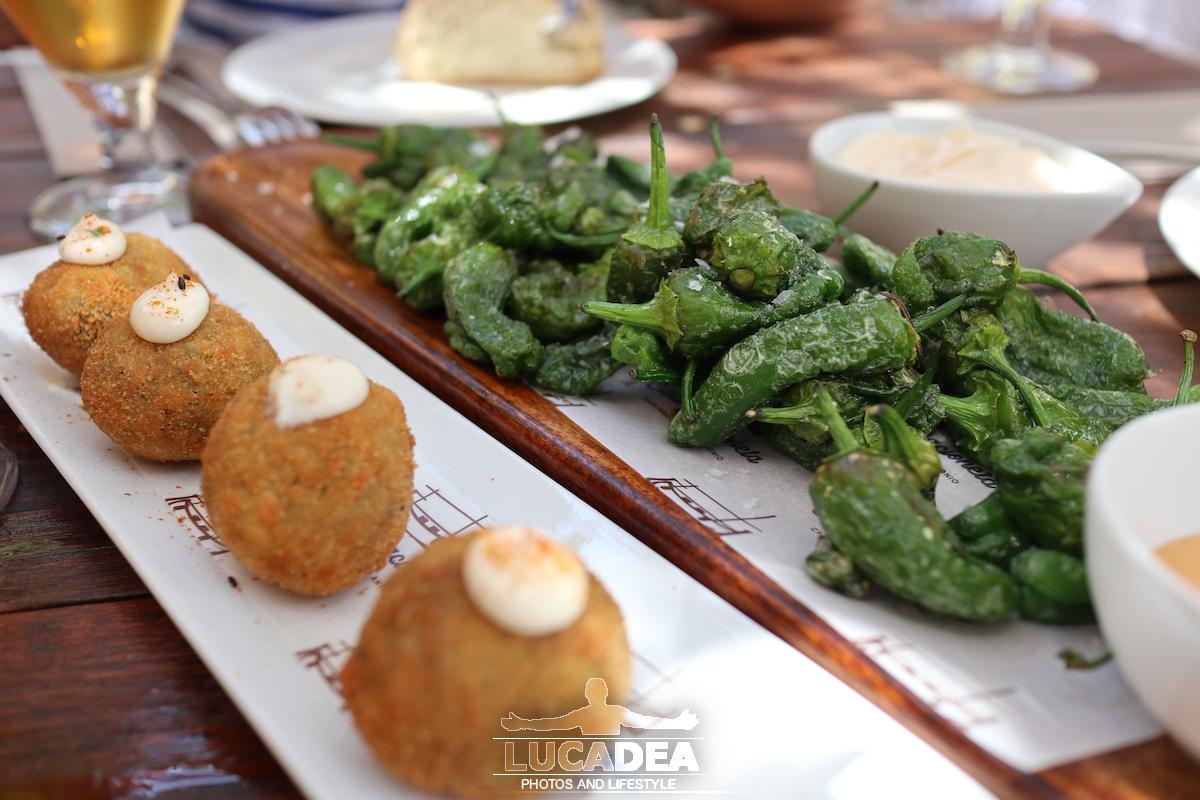Crocchette e peperoni in Spagna