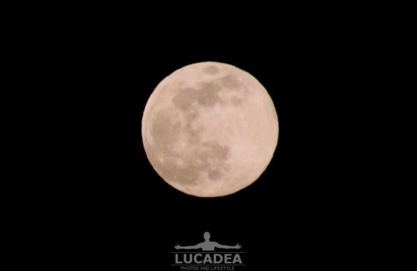 Superluna del 7 aprile dal balcone