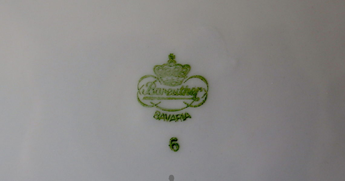 Piatto di porcellana Bareuther Bavaria