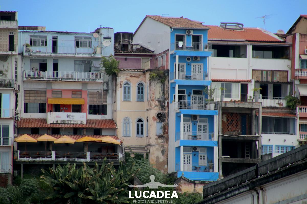 Case colorate al Pelourinho in Brasile
