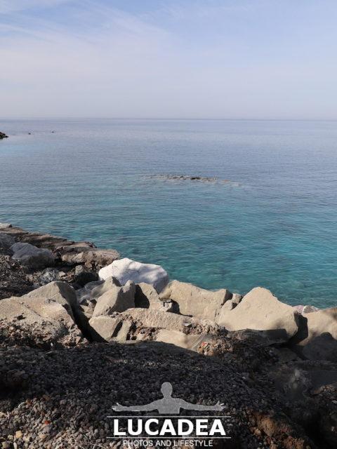 La spiaggia di Renà fotografata di prima mattina