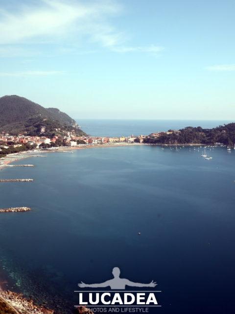 Sestri Levante vista da Sant'Anna il 2 giugno 2020