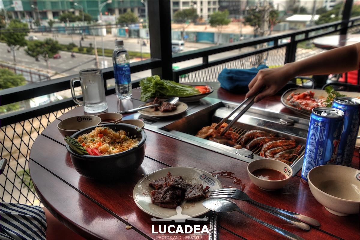 Grill di carne e pesce in Vietnam