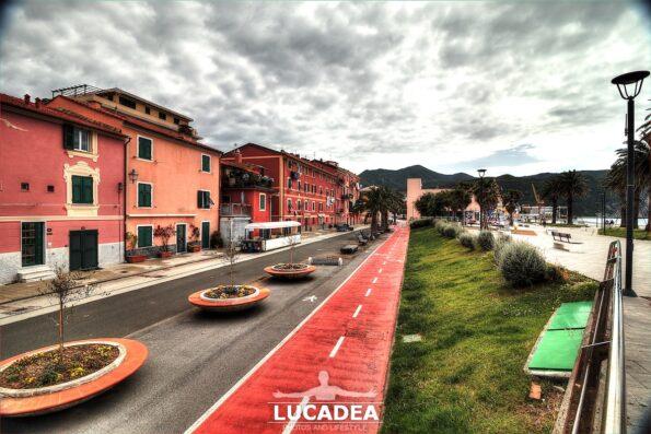 La pista ciclabile a Riva Trigoso