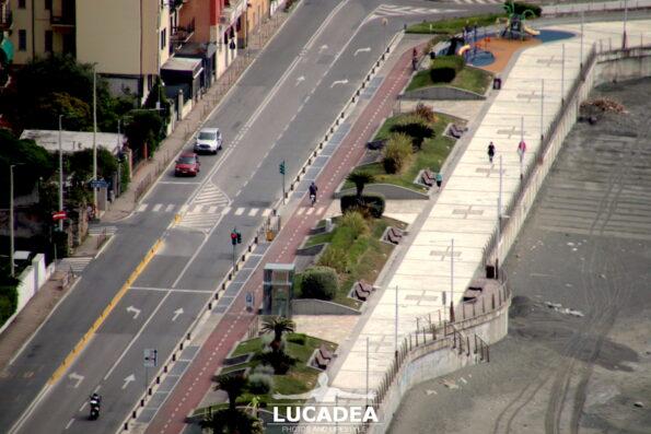 Aurelia, pista ciclabile e passeggiata a Sestri Levante