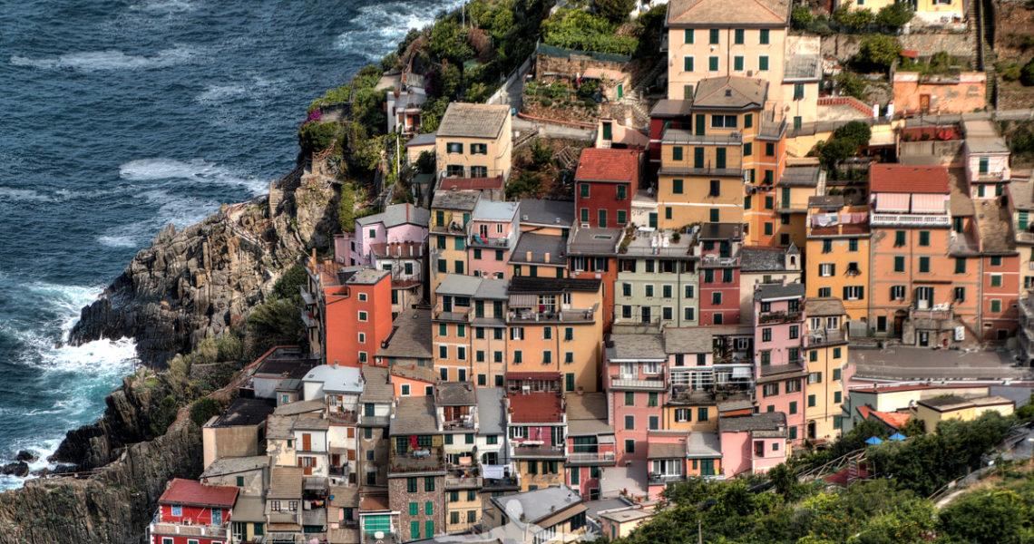 Le case a Riomaggiore